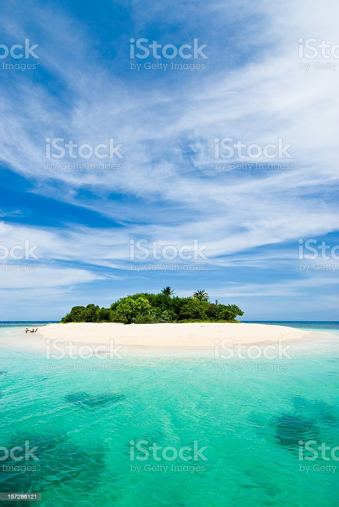 Lonely tropical island in the Caribbean royalty-free stock photo