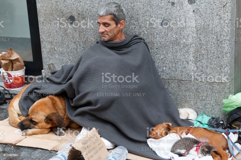 Lonely vagabond stock photo