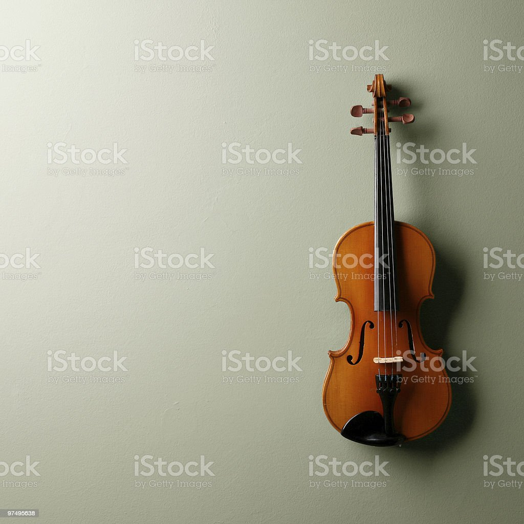 Lonely violin royalty-free stock photo