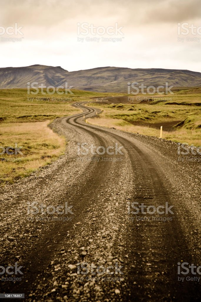 Lonely Winding Country Road royalty-free stock photo