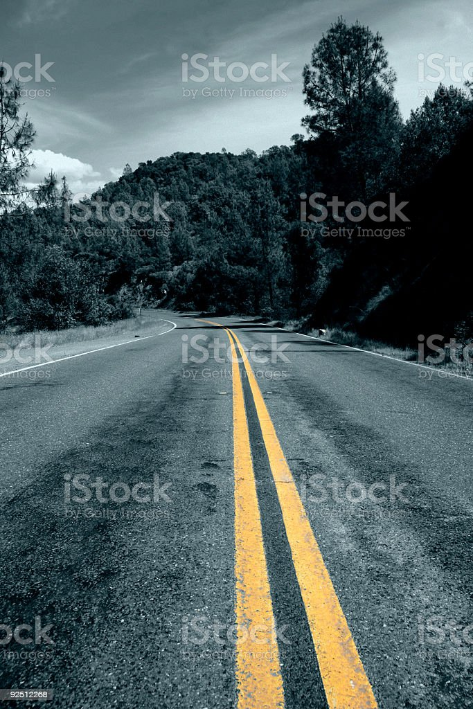 lonely winding road royalty-free stock photo