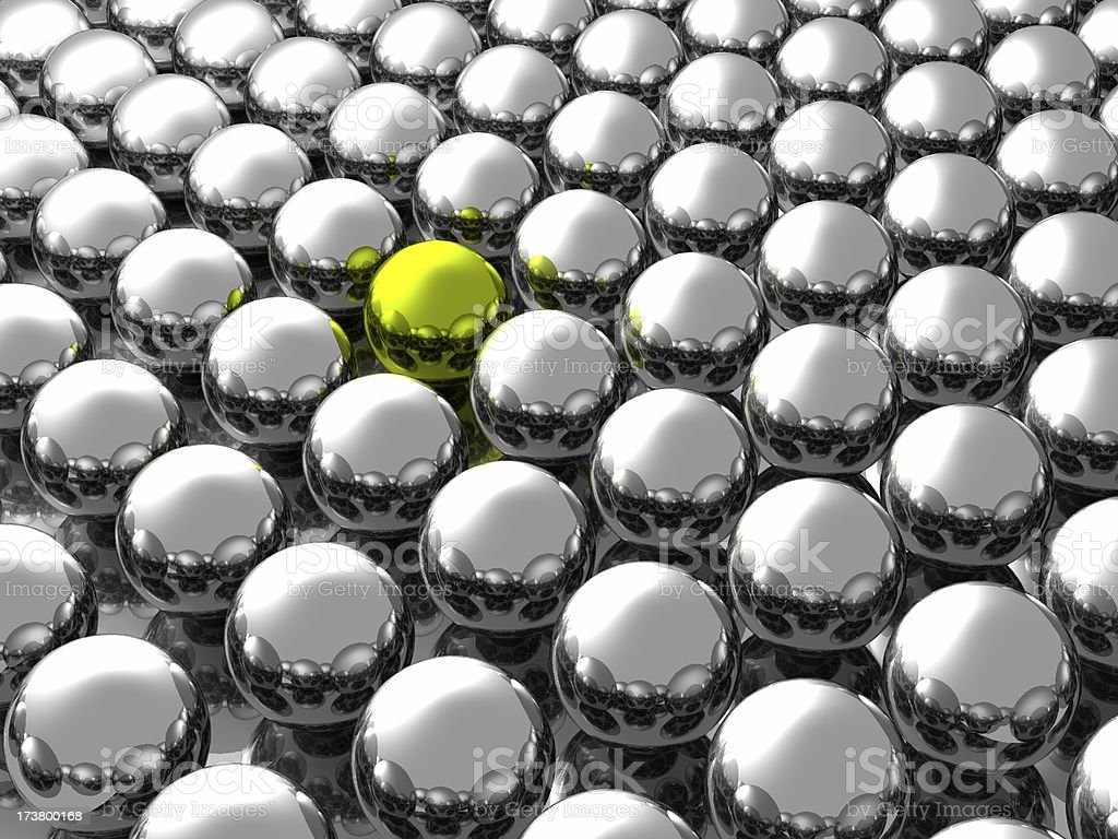 Lonely Yellow Ball royalty-free stock photo