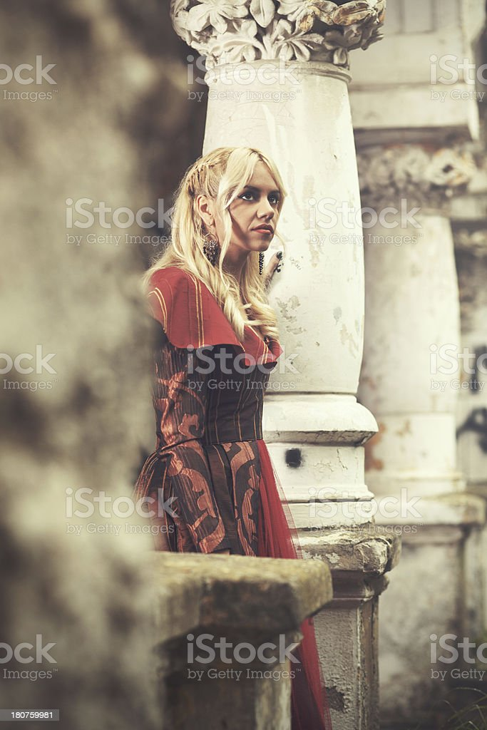 Lonely young woman royalty-free stock photo