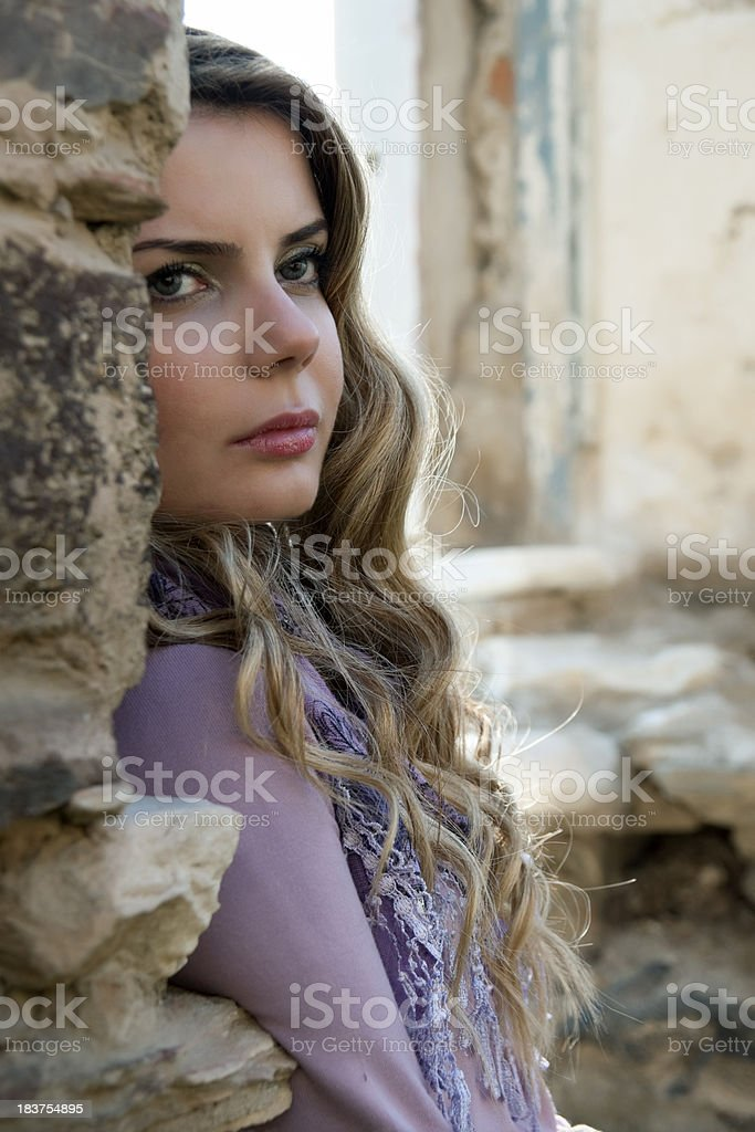 lonely young women royalty-free stock photo