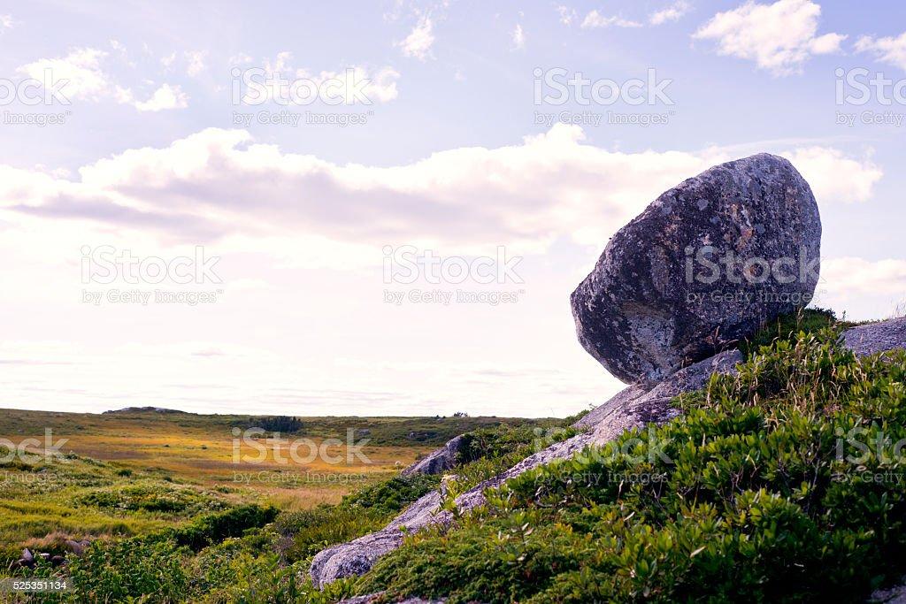 Loney Rock stock photo