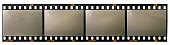 long 35mm film strip isolated