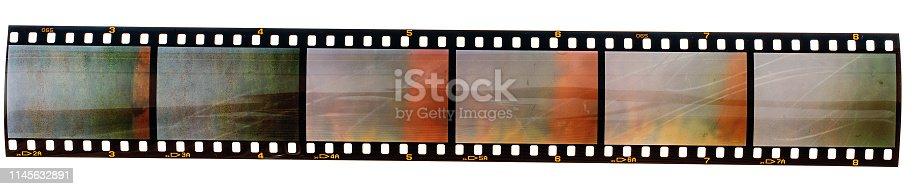 35mm film strip or film material type 135