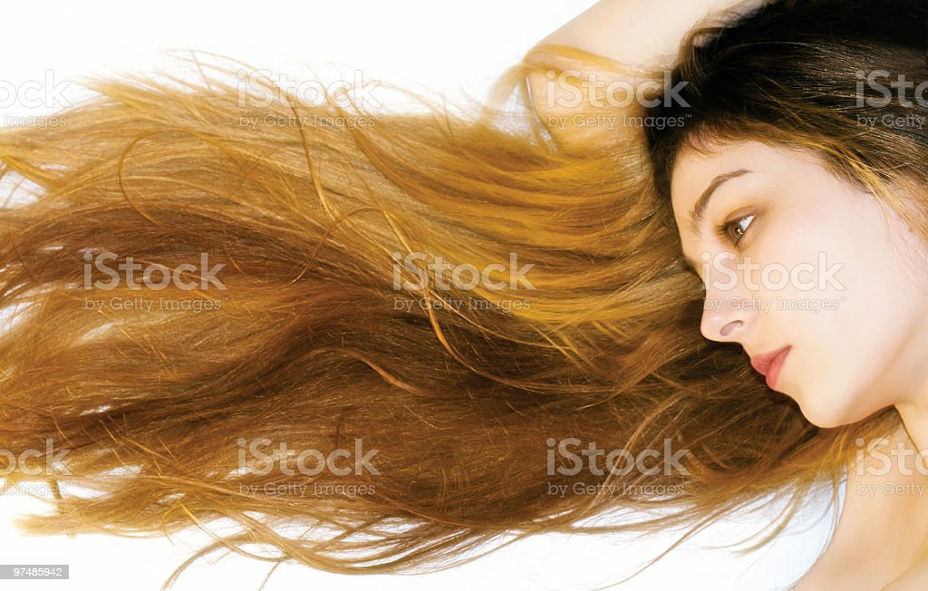 Long and beautiful hair royalty-free stock photo