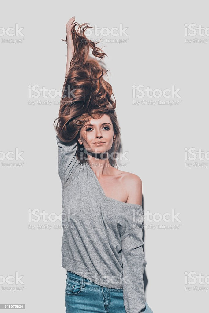 Long and healthy hair. stock photo