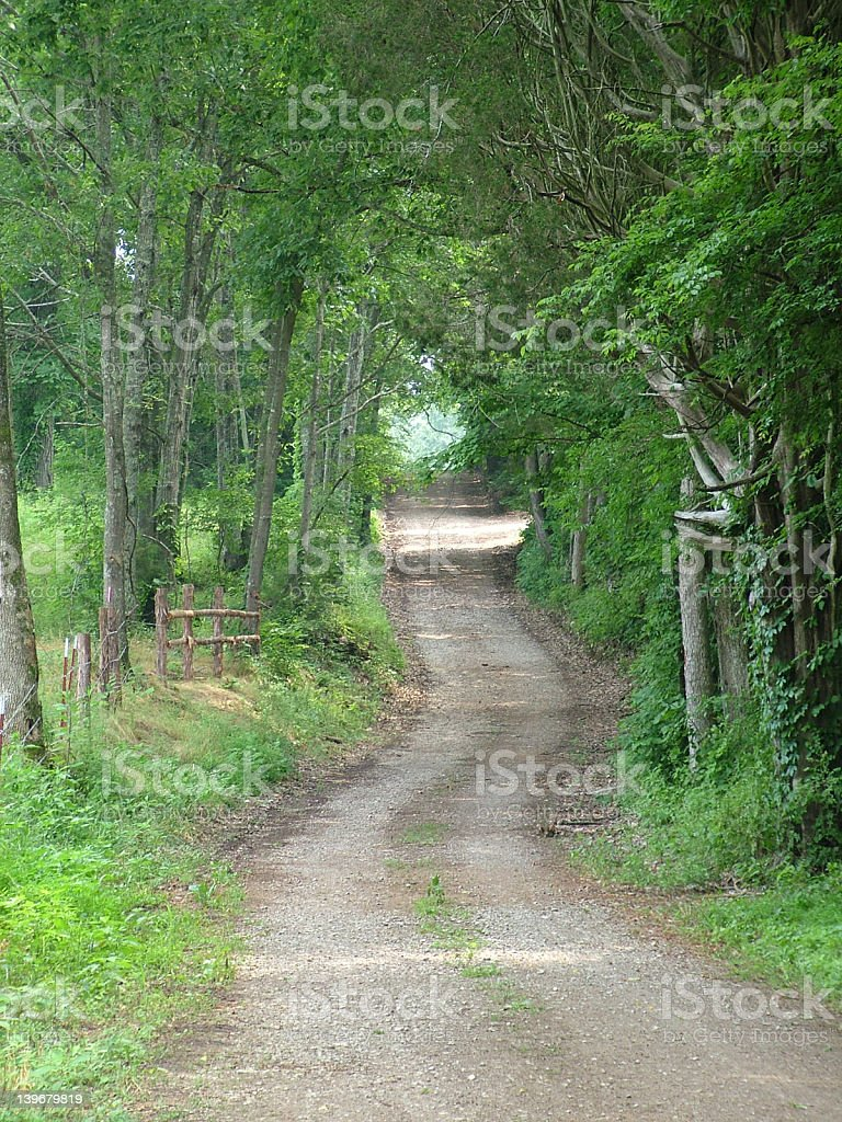 Long and winding road. stock photo