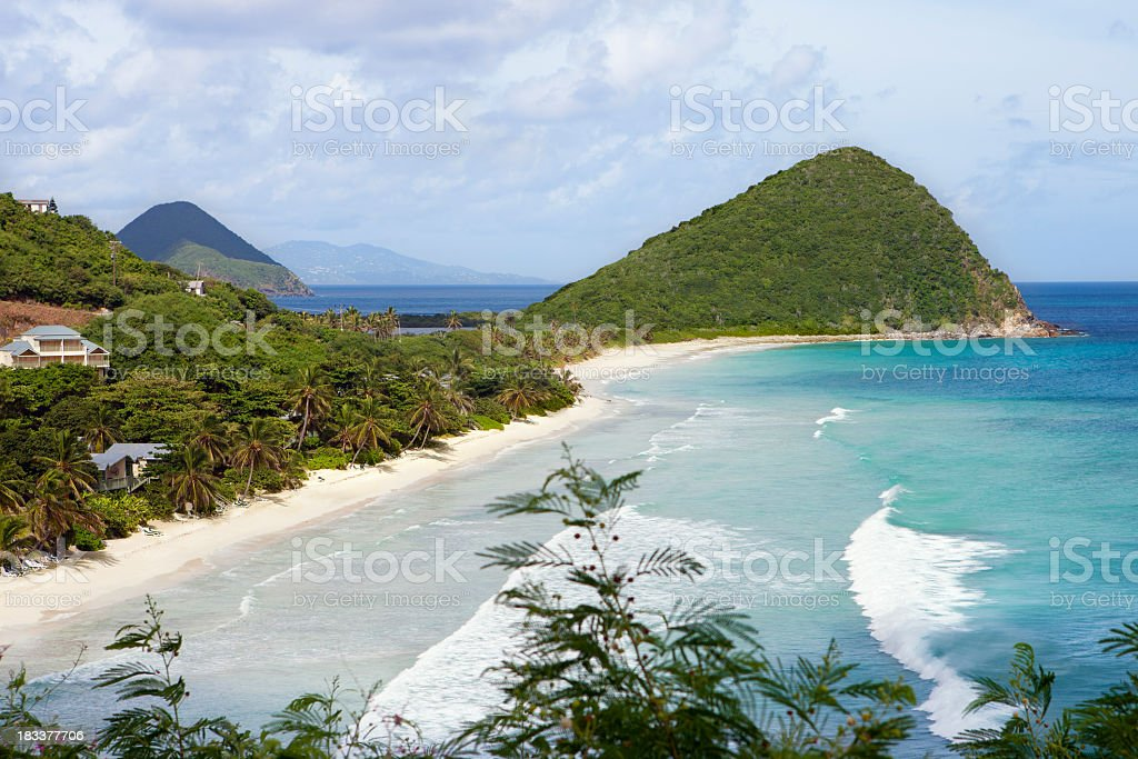 Long Bay and Belmont Point in Tortola, British Virgin Islands stock photo