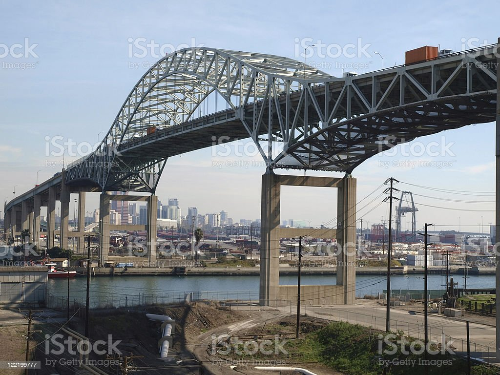 Long Beach Bridge stock photo