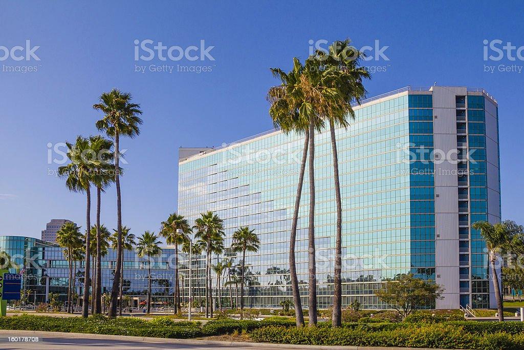 Long Beach, California Office building exterior (P) stock photo