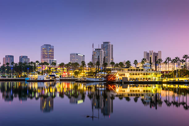 Long Beach California Long Beach, California, USA skyline. long beach california stock pictures, royalty-free photos & images