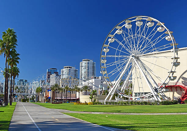 Long Beach, California A view of downtown Long Beach in Southern California. Long Beach is a city south of Los Angeles. long beach california stock pictures, royalty-free photos & images
