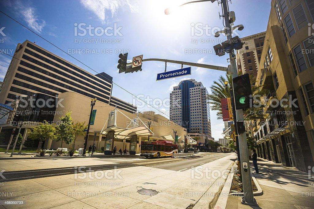 Long Beach Downtown District, California, USA royalty-free stock photo