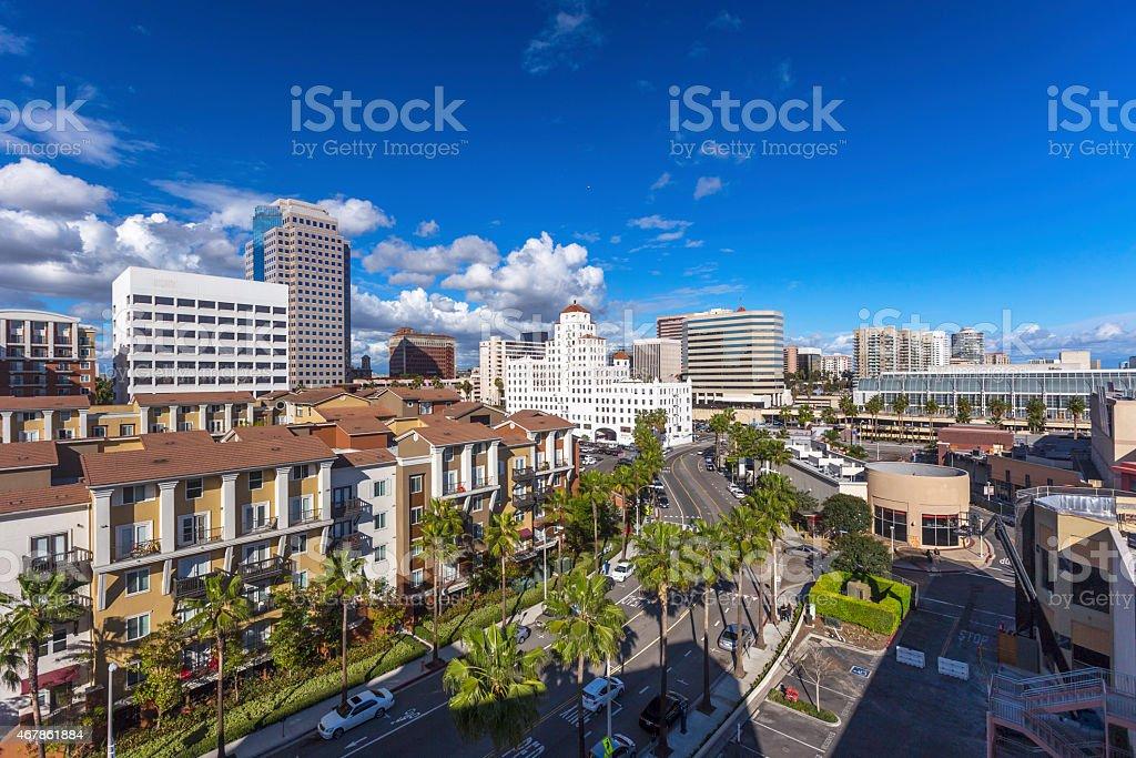 Long Beach downtown skyline California stock photo