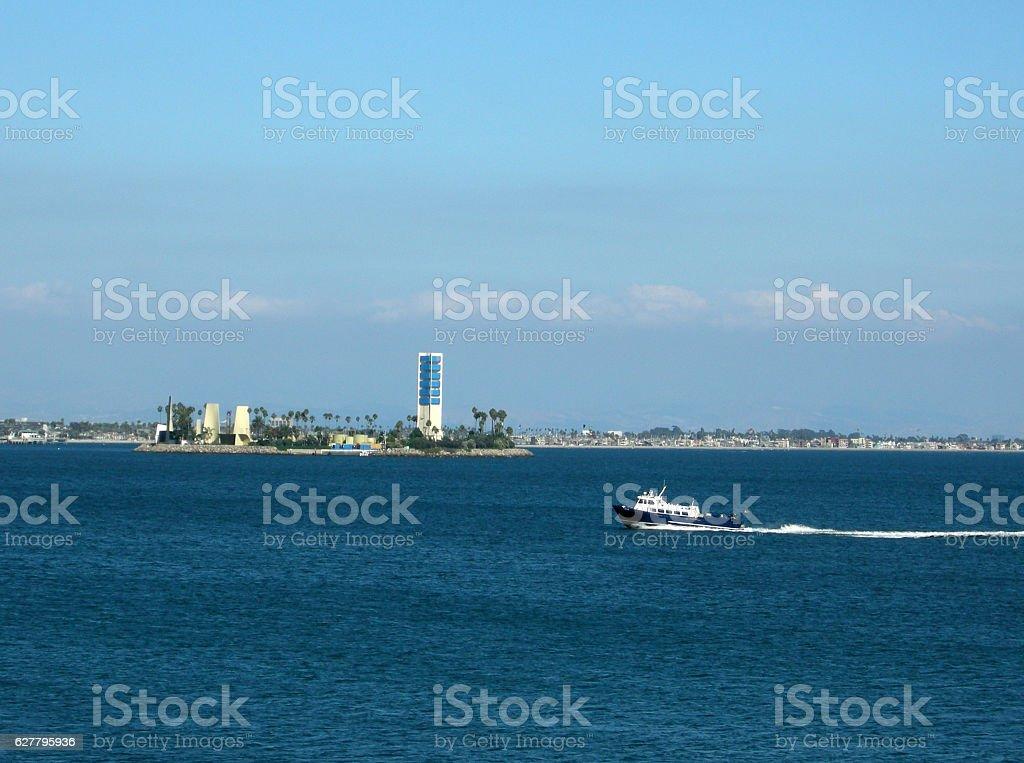 Long Beach Harbor in September stock photo