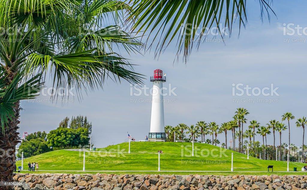 Long Beach Harbor Lighthouse stock photo