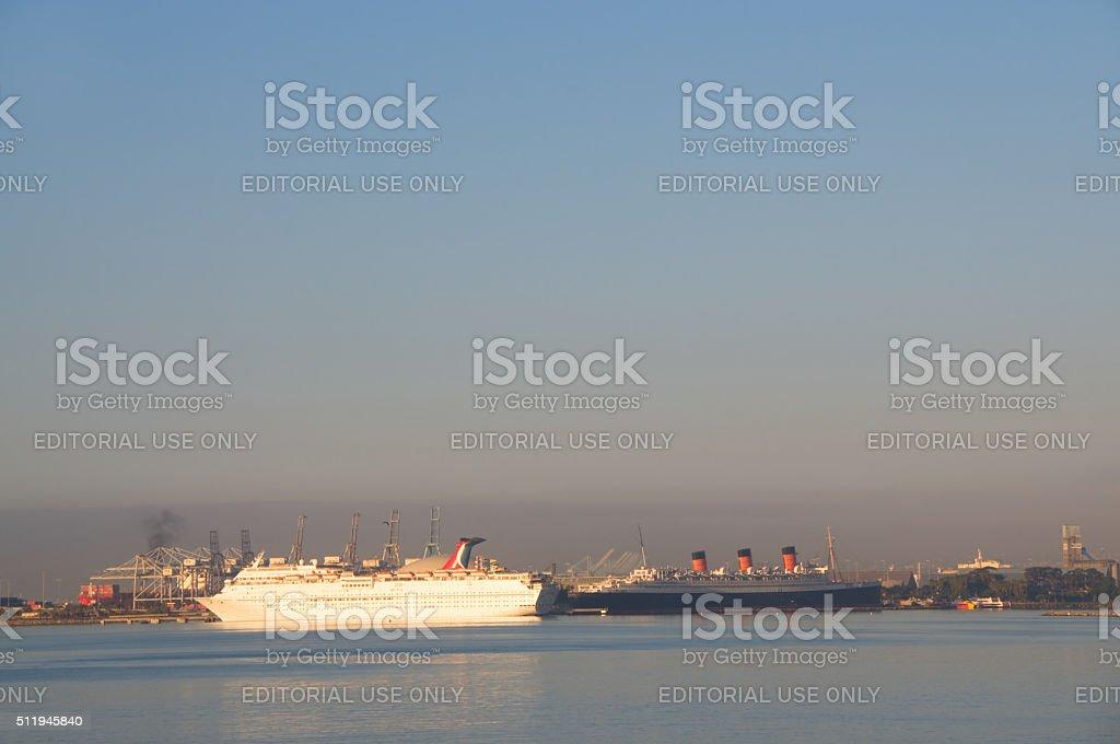 Long Beach Harbor stock photo