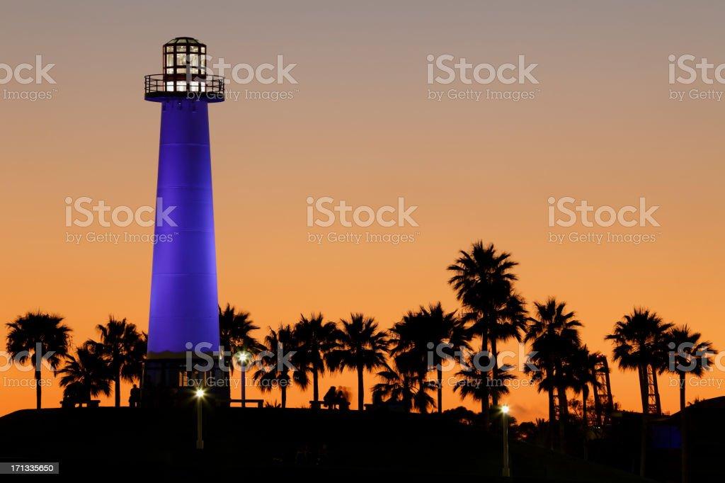 Long Beach Lighthouse royalty-free stock photo