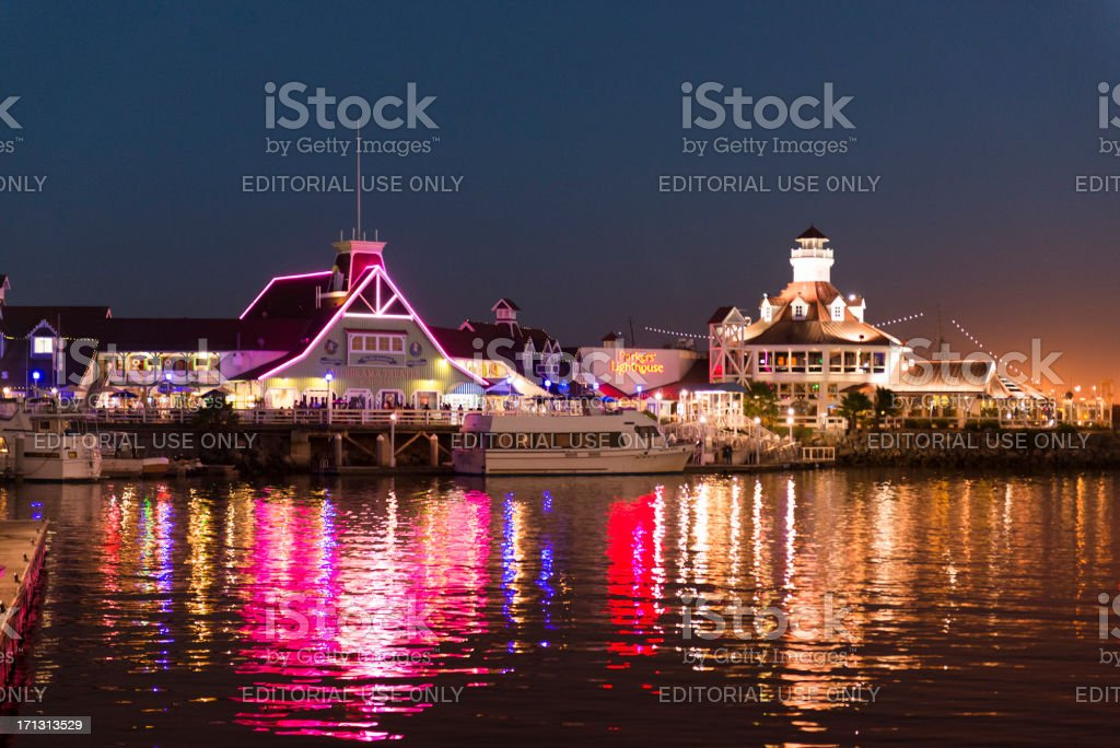 Long beach marina - California royalty-free stock photo