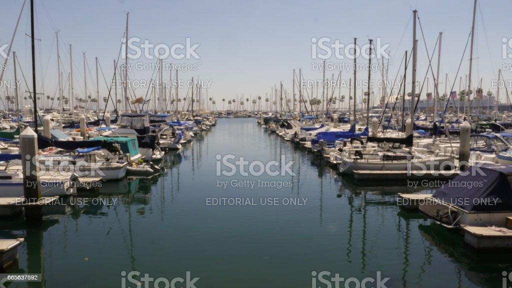 Long Beach Marina/Harbor 4k stock photo