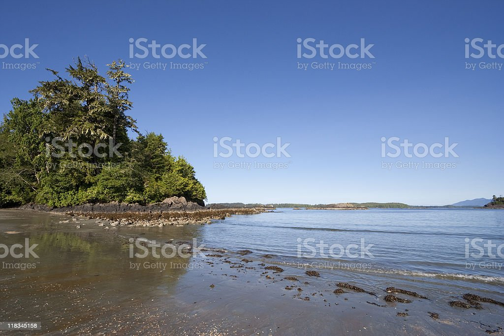 Long Beach on Vancouver Island royalty-free stock photo