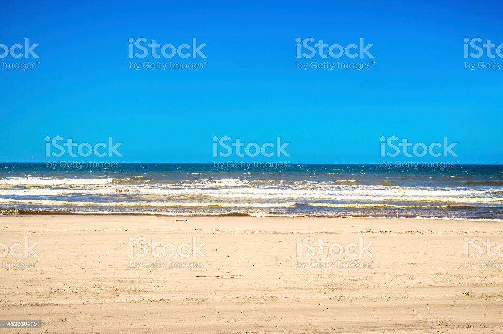 Long Beach Pacific Ocean shore stock photo