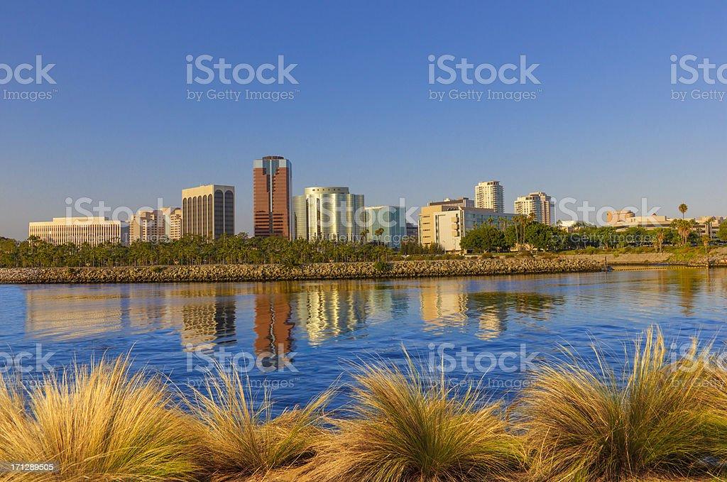 Long Beach skyline California (P) stock photo