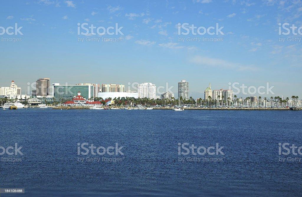 Long Beach skyline stock photo