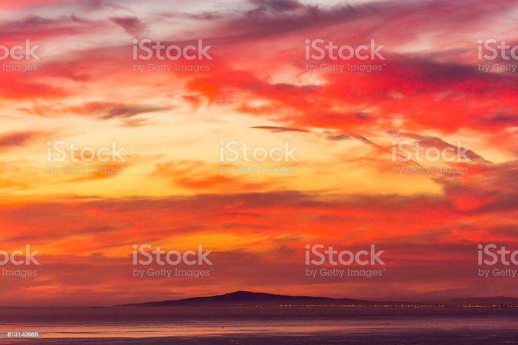 Long Beach Sunset stock photo