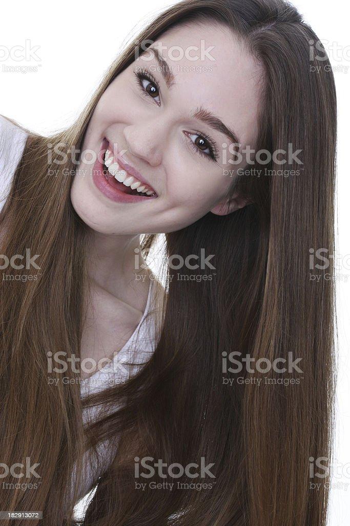long beautiful hair and healthy skin royalty-free stock photo