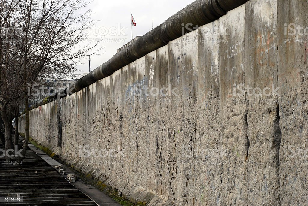 Long Berlin Wall royalty-free stock photo
