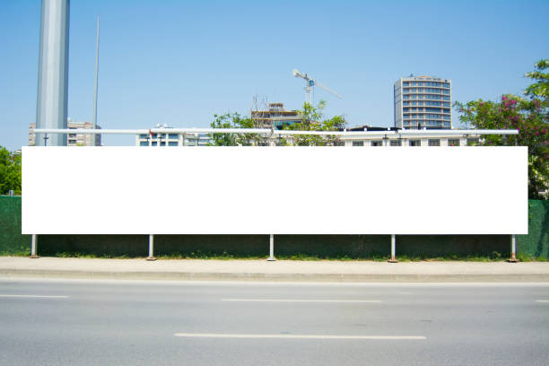 long billboard blank frame mockup - long stock pictures, royalty-free photos & images