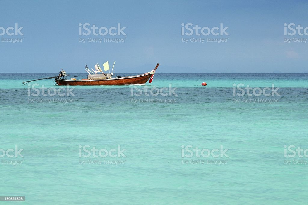 Long Boat on turquoise andaman sea royalty-free stock photo