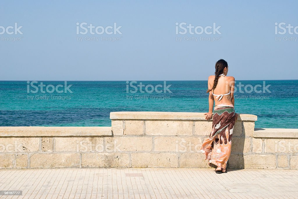 Long braid royalty-free stock photo