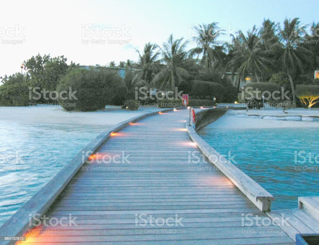 Long bridge over sea. royalty-free stock photo