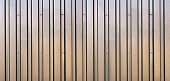 Long Brown Corrugated Sheet Metal Abstract Background
