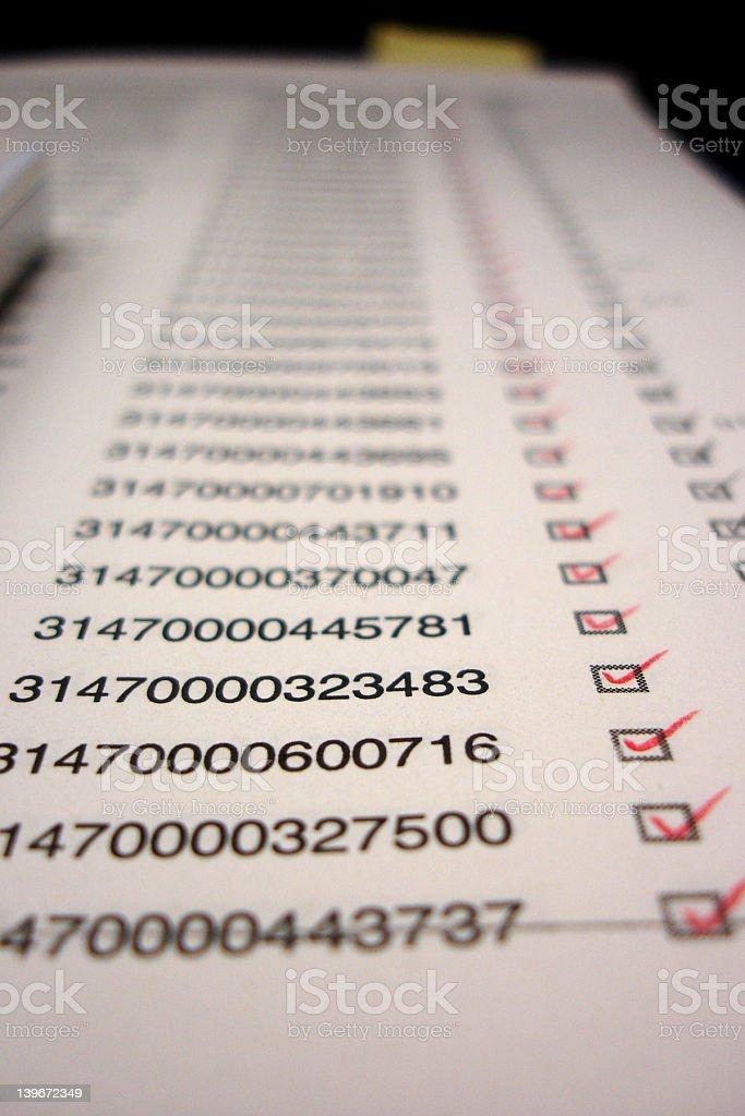 long checklist royalty-free stock photo