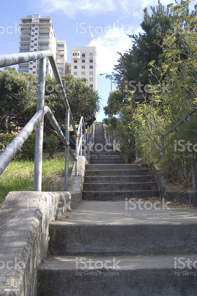 Long City Stairway royalty-free stock photo