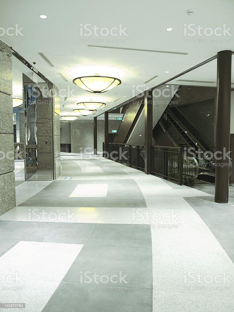 Long corridor royalty-free stock photo