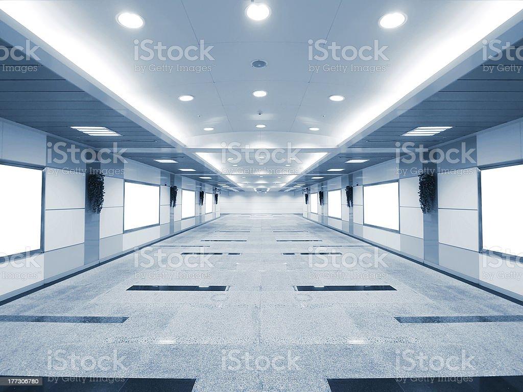 Long corridor stock photo