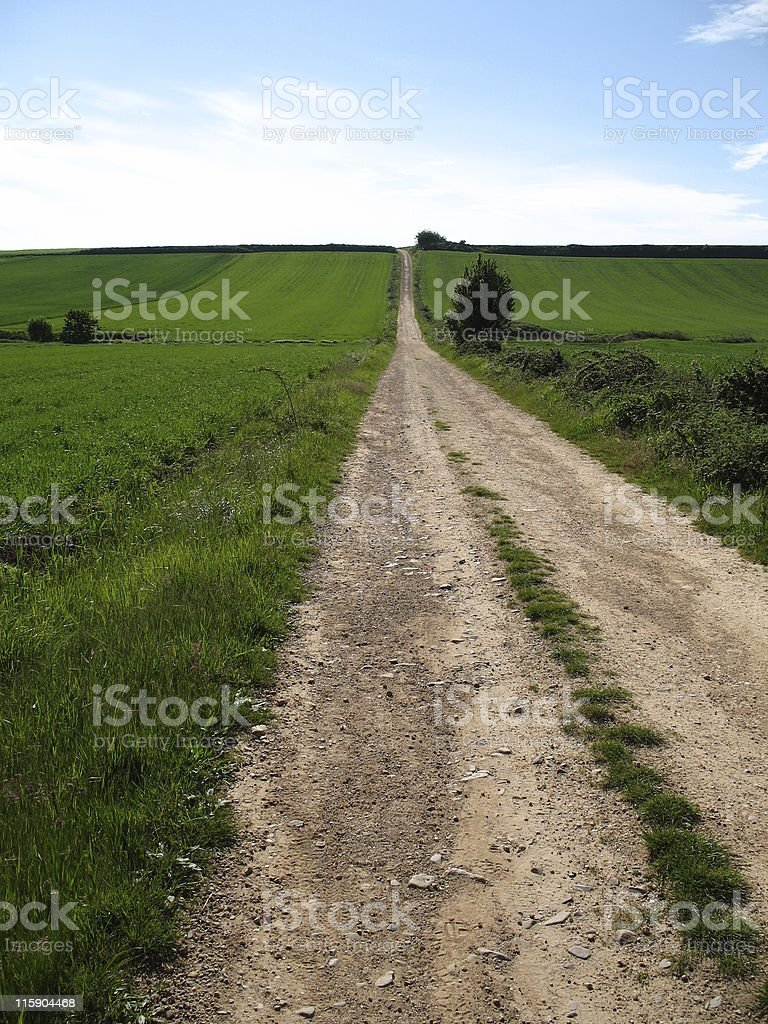 Long Country Road stock photo
