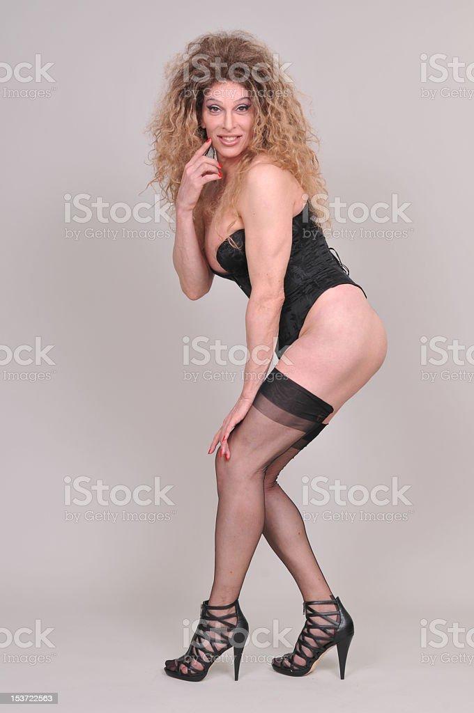 Young woman boss spank