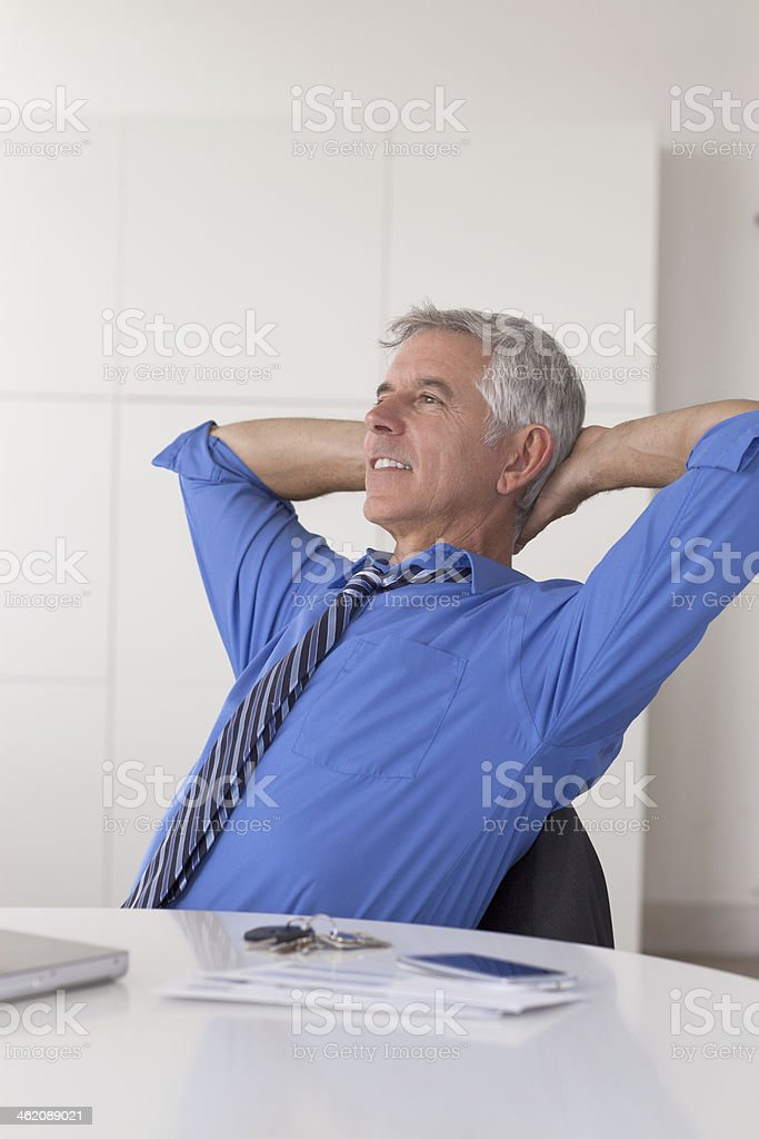 Long day at the office stock photo