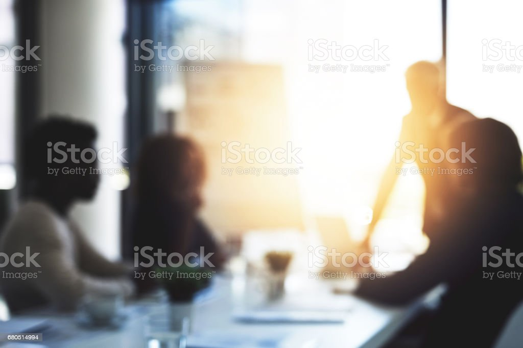 Long days in the boardroom stock photo