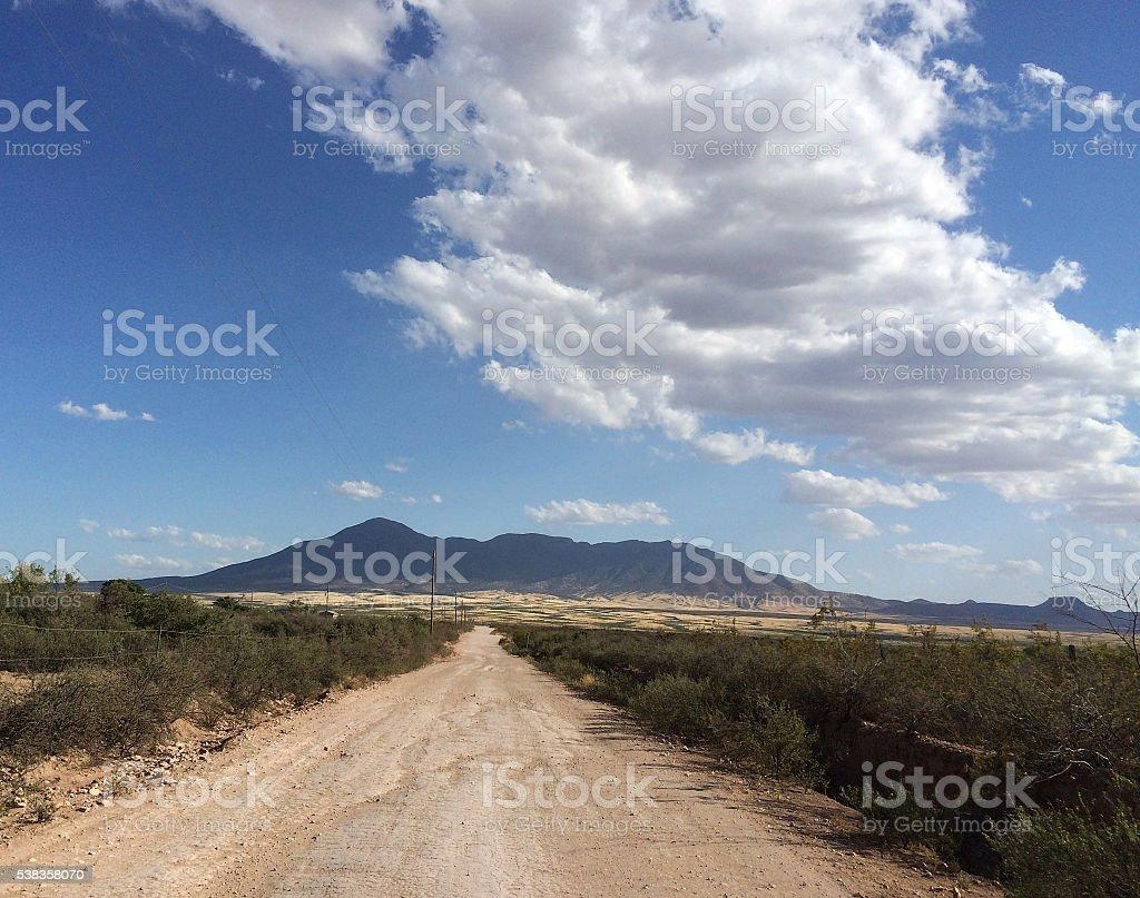 Long Dirt Road stock photo