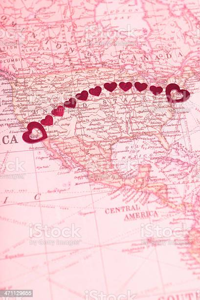 Long Distance Relationship Goes Coasttocoast Stock Photo - Download Image Now