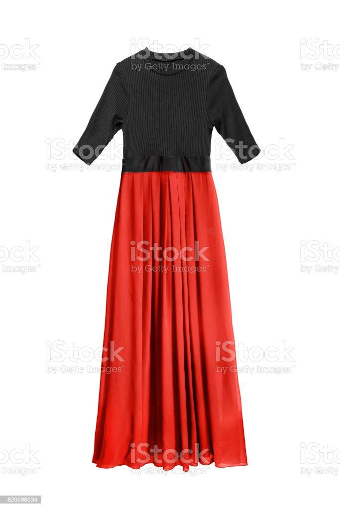 Long dress isolated stock photo